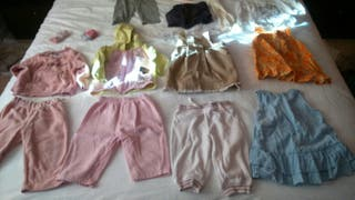 ropa niña invierno 6-12meses talla62-74 (lote 10)