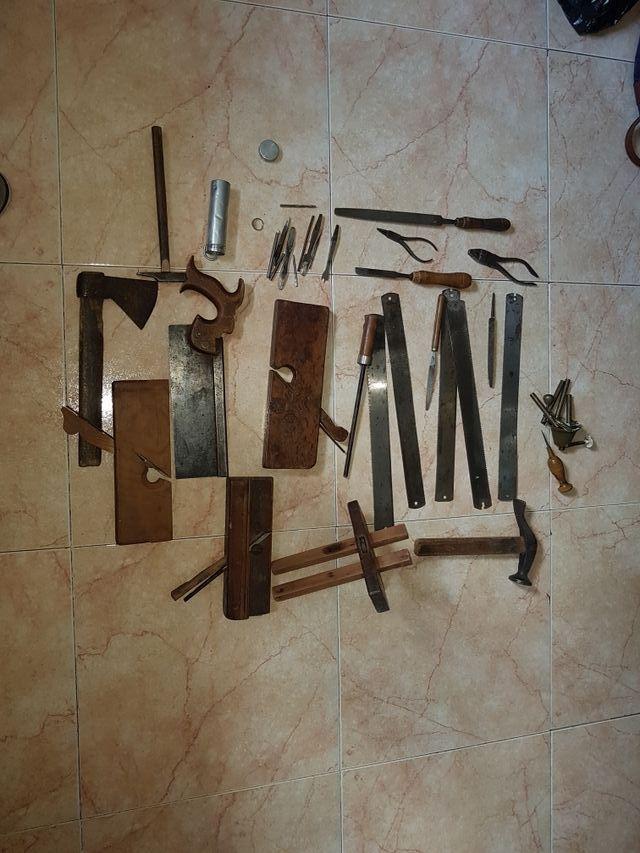 Herramientas de carpintería antigua