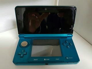 Nintendo 3ds azul turquesa