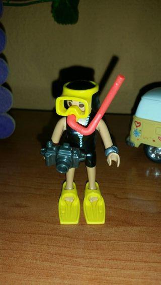 playmobil buceadora