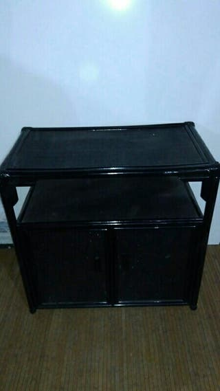 mueble de television tv color negro