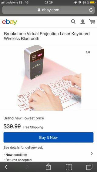 se vende teclado virtual nuevo