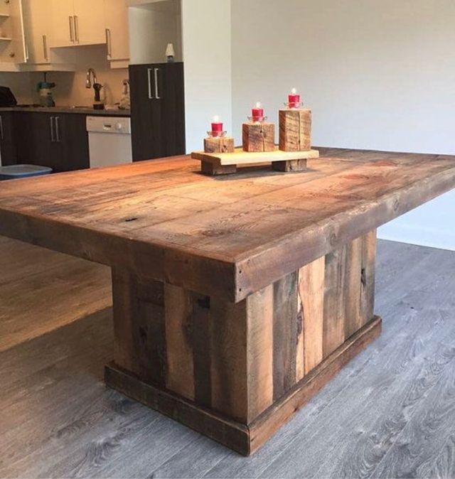 Mesa isla de cocina en madera de palet a medida de segunda mano por ...