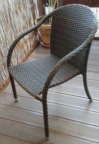 25 sillas terraza ratt n para exteriores de segunda mano por 40 en la parata en wallapop - Sillas terraza segunda mano ...