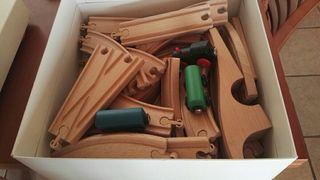 tren juguete madera