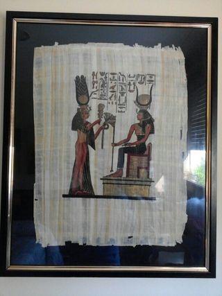 papiros egipcios enmarcados