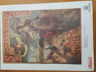 láminas de fiestas patronales de Sevilla
