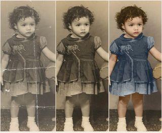 Restauración de fotos antiguas, fotomontajes...