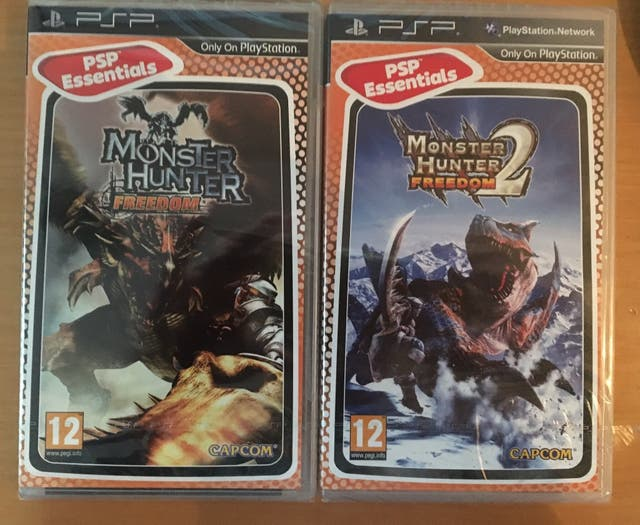 Monster Hunter Freedom+Monster Hunter 2 PSP NUEVOS
