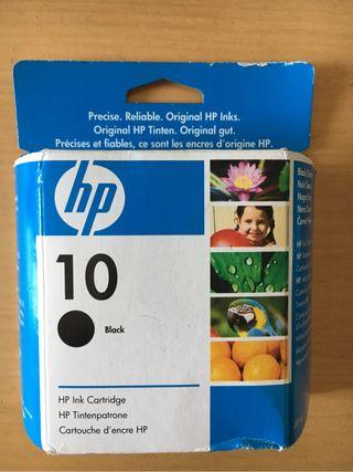 Tinta negra impresora HP nueva sin abrir. Ver Refe