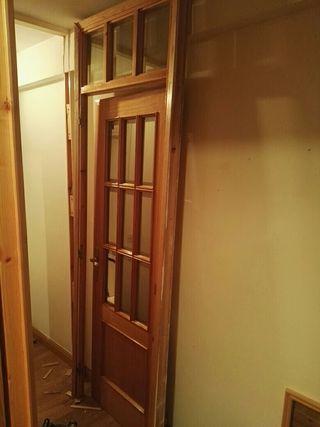 puerta con Marco y cristalera