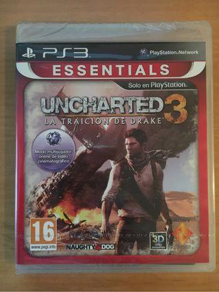 Uncharted 3 PS3 español nuevo precintado