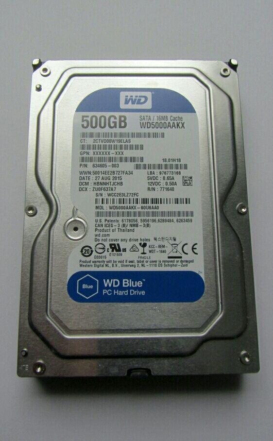 Disco Duro WD 500GB SATA para PC