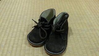 Zapatos niño T.21 de piel-serraje. Nuevos