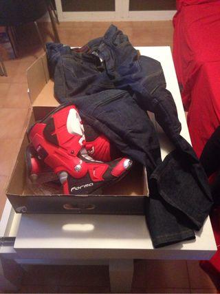 Botas y pantalon proteciones