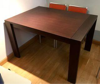 Mesa de comedor color wengue