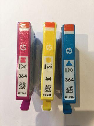 3 Cartuchos de tinta HP 364 + negro de regalo