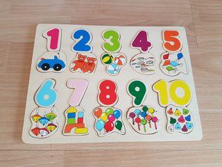 Puzzle Encajable de Madera - Juego Juguete Bebé