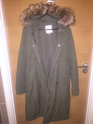 Green warm jacket