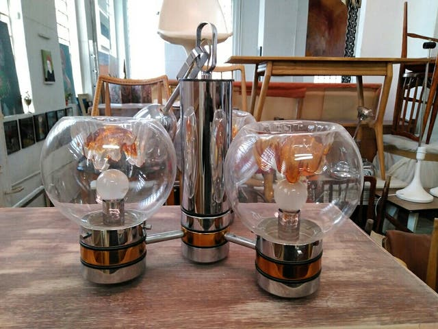 Lámpara murano mazzega vintage