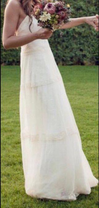 Vestido novia boho chic diseño