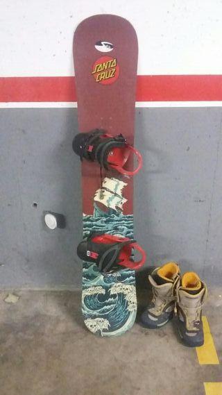 Tabla snowboard Santa cruz i botas salomon n°42/43