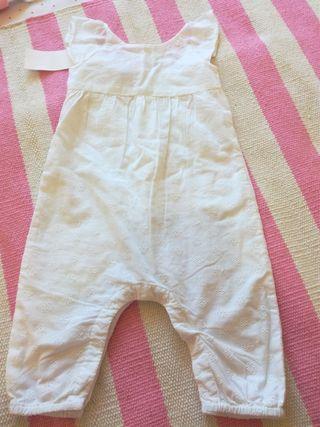 Mono verano bebé batista talla 9 meses etiqueta