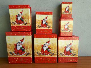 lote 7 cajas motivos navidad, la grande mide 23x16