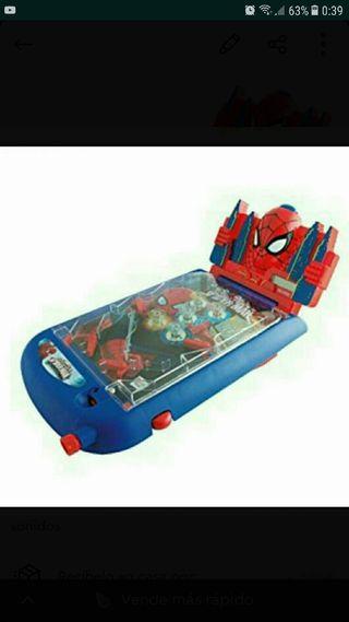 juego pinball spiderman con luces y sonidos