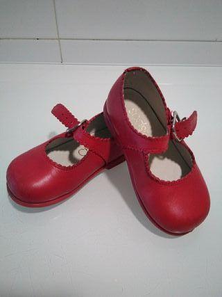 zapatos merceditas rojo 21