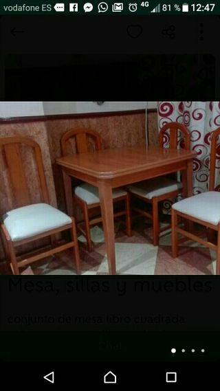 mueble y mesa con silla
