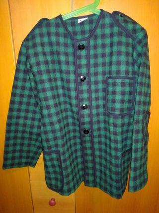 Kaiku de cuadros negro y verde