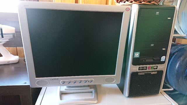 Monitor PC multimedia Captiva 17 pulgadas gris.