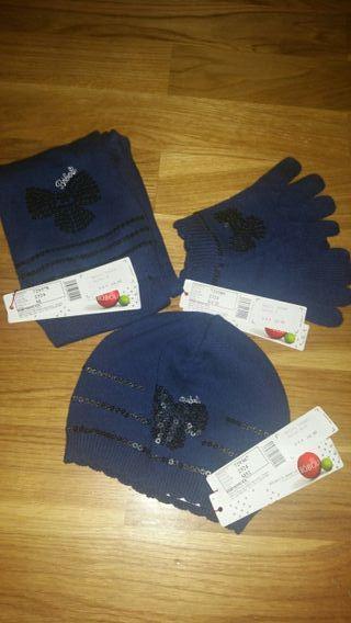 Conjunto gorro, guantes y bufanda Bóboli