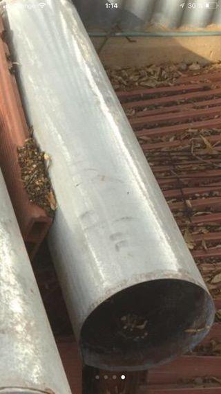 Tubo galvanizado chimena de 25