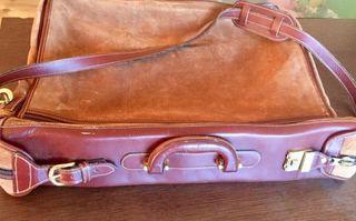 Porta trajes piel vintage