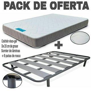 PACK DE OFERTA COLCHÓN VISCO + SOMIER
