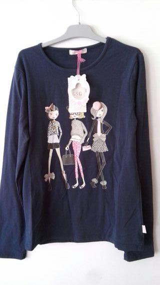 Camiseta larga niña
