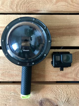GoPro Dome and black housing for Gopro 4 and 3