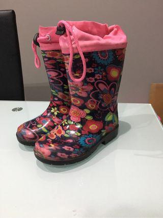 Botas para lluvia nina