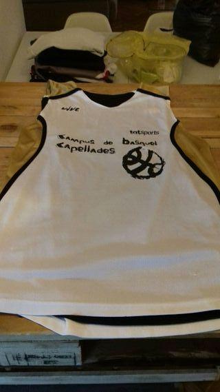 Camiseta reversible entrenamiento baloncesto