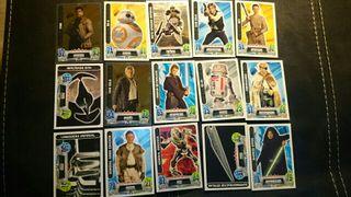 Cartas Star Wars Colección Carrefour