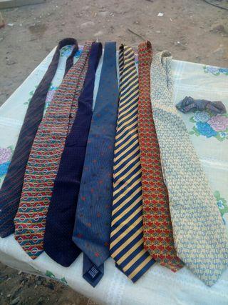 lote de 7 corbatas emilio tucci