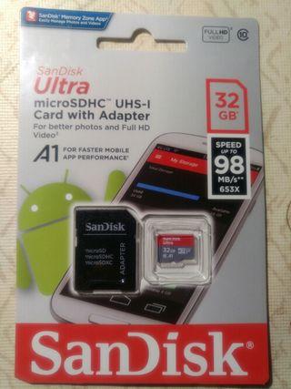 Tarjeta SanDisk 32GB microSDHC UHS-I clase 10