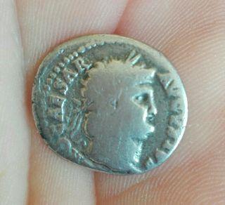 moneda romana de plata Nerón