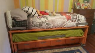 Cama nido habitación juvenil con colchones incluid