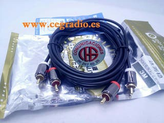 3m Dorewin Cable Audio Doble RCA Macho a 2 RCA