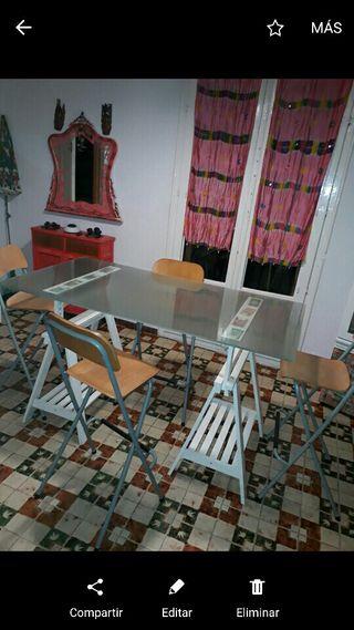 Mesas de cristal de segunda mano por 40 en barcelona for Wallapop mesas