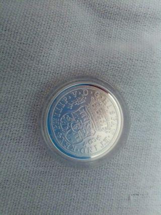 moneda plata reproduccion reales
