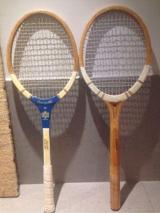 Raquetas tenis madera años 70